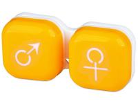 снимка - Кутийка за лещи мъжка/женска - жълта
