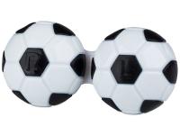 снимка - Кутийка за лещи Футболна - черна