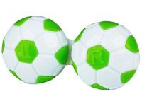 снимка - Кутийка за лещи Футболна - зелена