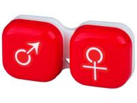 снимка - Кутийка за лещи мъжка/женска - червена