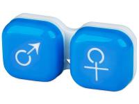 снимка - Кутийка за лещи мъжка/женска - синя