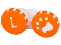 снимка - Кутийка за лещи Paw оранжева