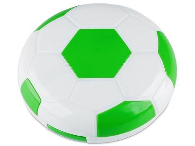 Кутийка за лещи с огледалце Football -зелена