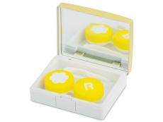 Кутийка за лещи с огледалце Elegant  - златиста