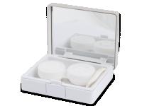 снимка - Кутийка за лещи с огледалце Elegant  - сребриста