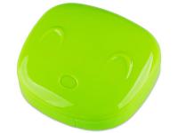 снимка - Кутийка за лещи с огледалце Face -зелена