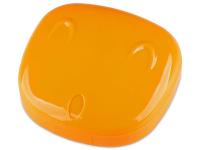 снимка - Кутийка за лещи с огледалце Face - оранжева